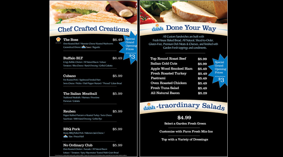 Digital menu board content